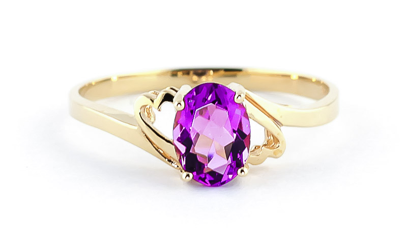 Pink Topaz Classic Desire Ring 1.0ct in 14K Gold