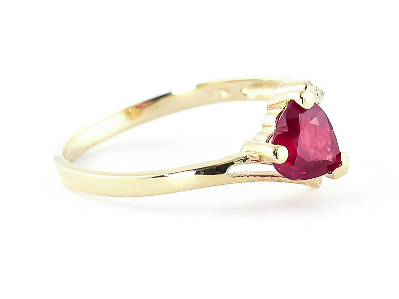 Ruby Devotion Heart Ring 1.0ct in 9ct Gold
