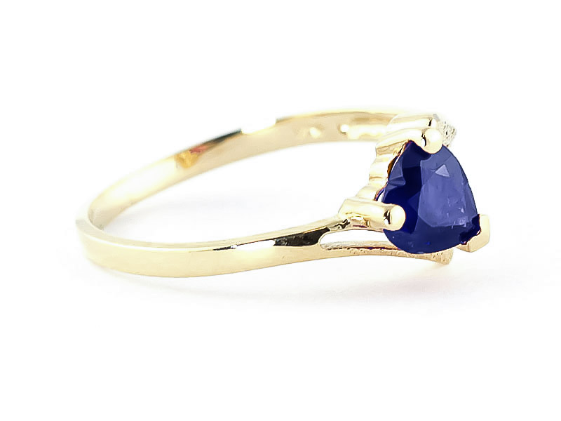 Sapphire Devotion Heart Ring 1.0ct in 14K Gold
