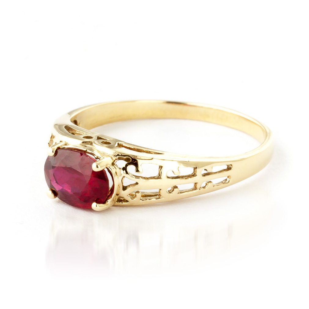Ruby Catalan Filigree Ring 1.15ct in 14K Gold