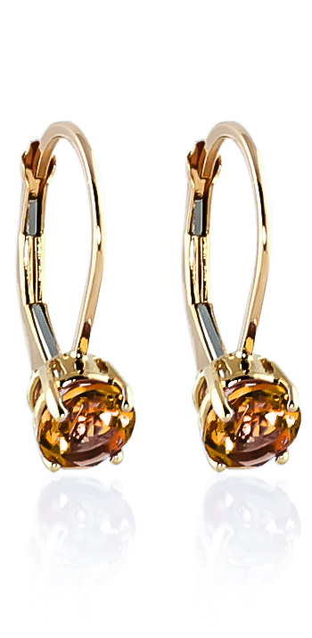 Citrine Boston Drop Earrings 1.2ctw in 9ct Gold