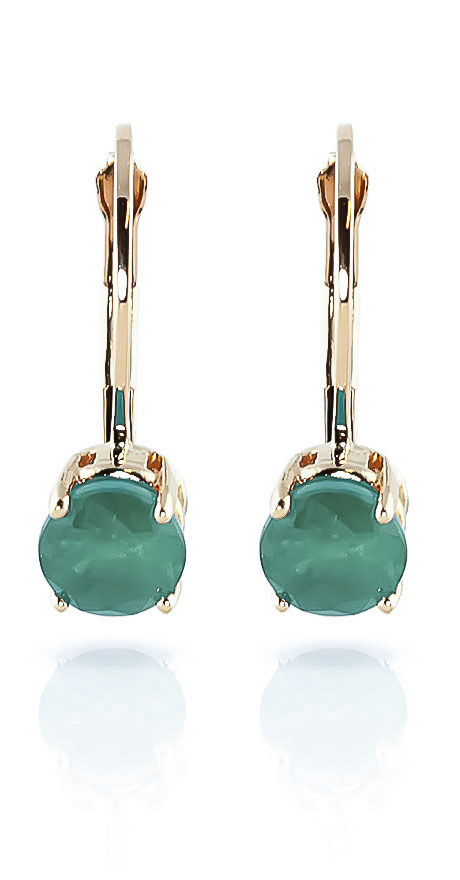 Emerald Boston Drop Earrings 1.2ctw in 9ct Gold