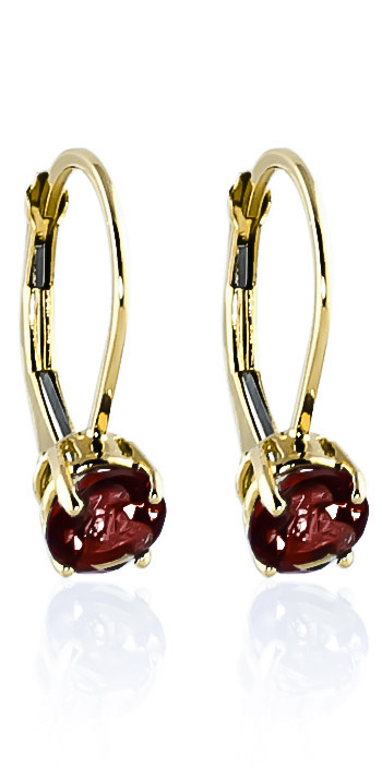 Garnet Boston Drop Earrings 1.2ctw in 9ct Gold