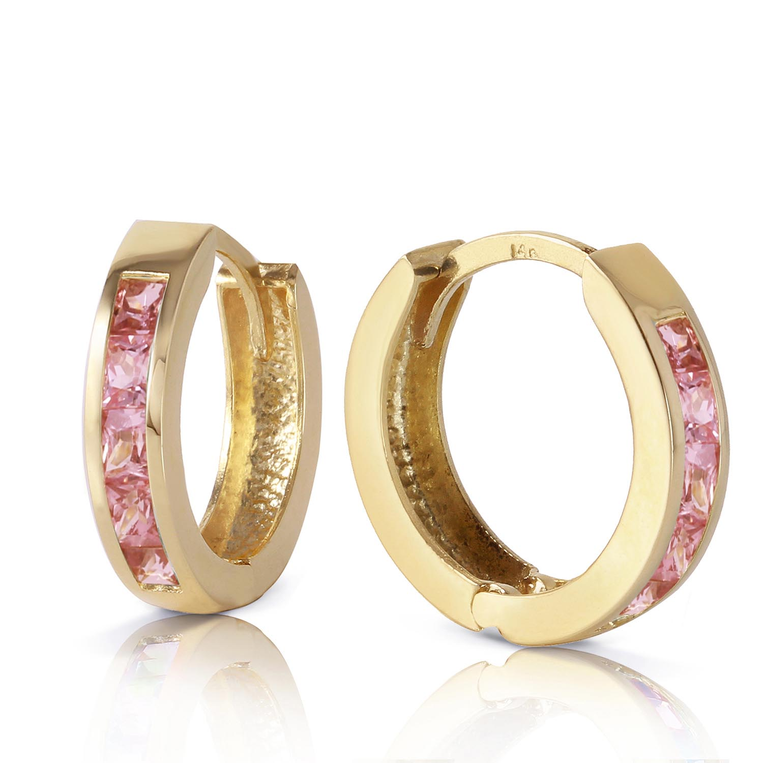 Sapphire Huggie Earrings 1.3ctw in 9ct Gold