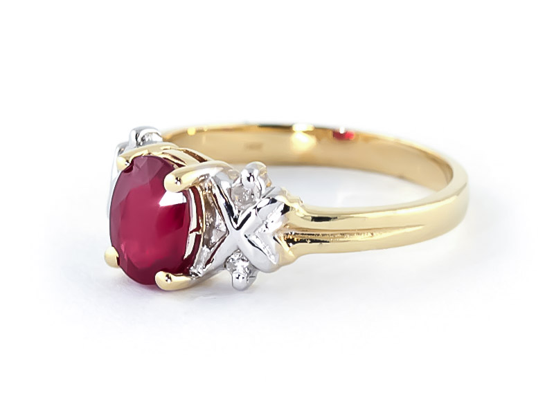 Ruby and Diamond Ring 1.35ct in 9ct Gold