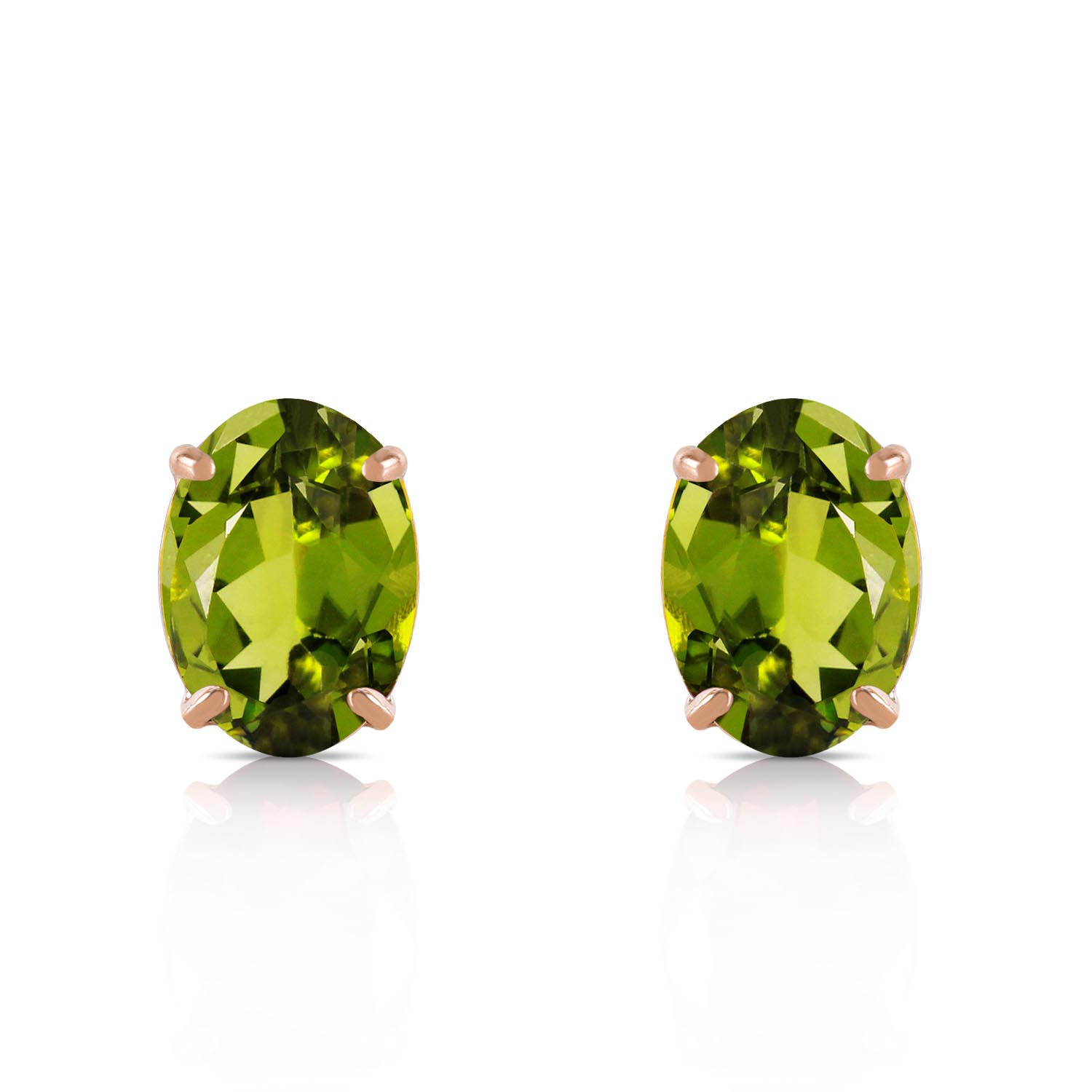 Peridot Stud Earrings 1.8ctw in 9ct Gold