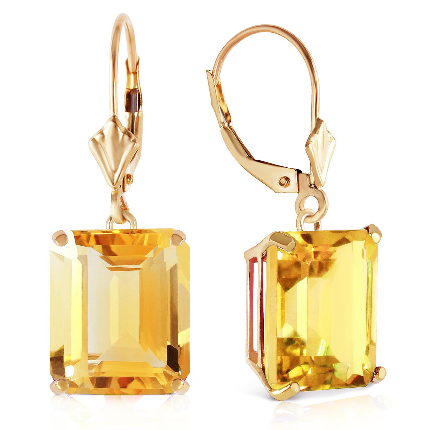 Citrine Drop Earrings 13.0ctw in 9ct Gold