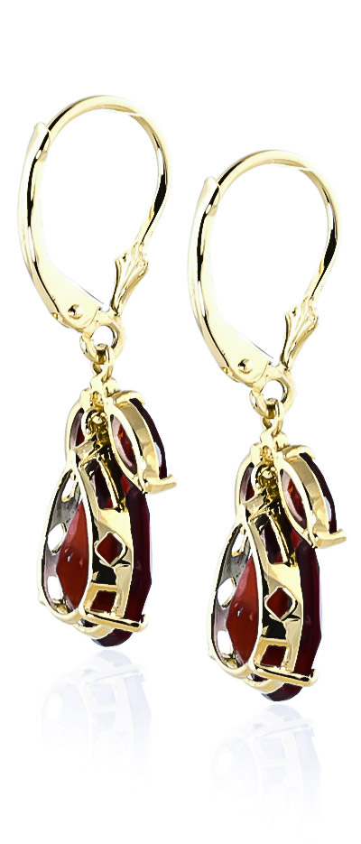 Garnet Drop Earrings 13.0ctw in 14K Gold