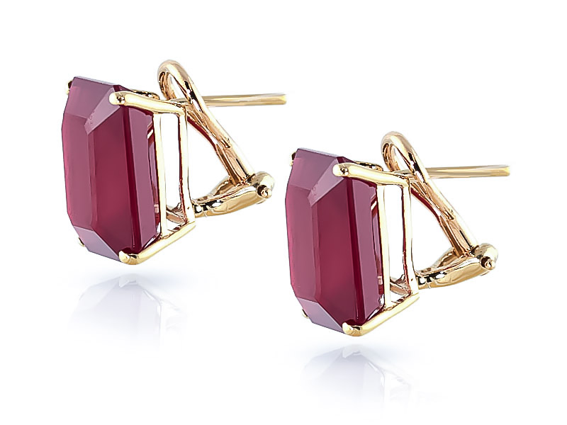 Ruby Stud Earrings 15.0ctw in 9ct Gold