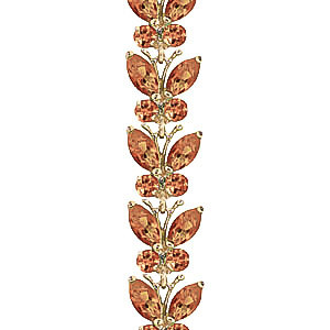 Citrine Butterfly Bracelet 16.5ctw in 9ct Gold