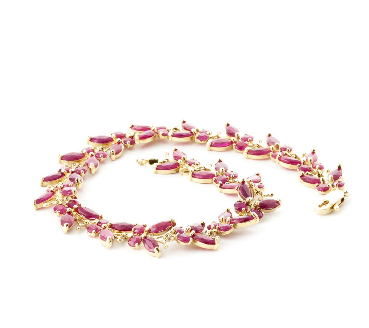 Ruby Butterfly Bracelet 16.5ctw in 9ct Gold