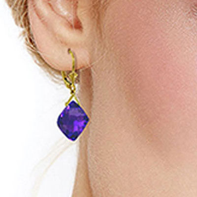 Amethyst Deflection Drop Earrings 17.5ctw in 9ct Gold