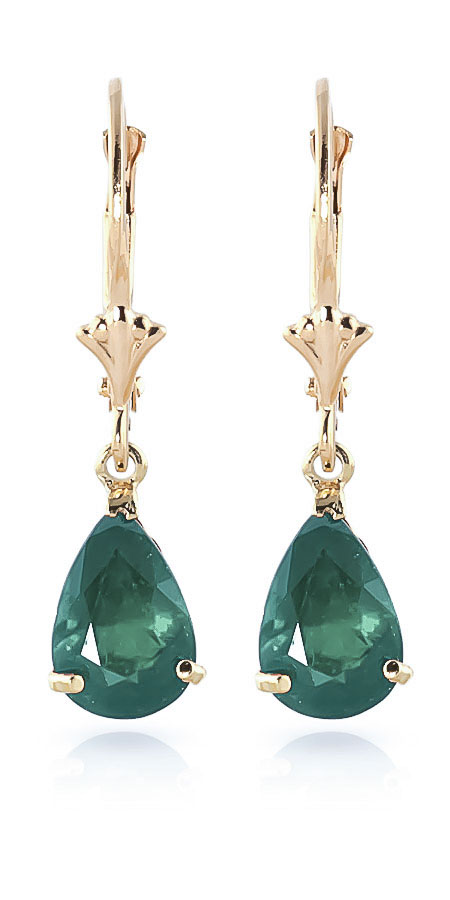 Emerald Belle Drop Earrings 2.0ctw in 9ct Gold