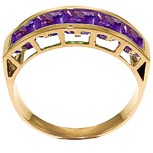 Square Cut Amethyst Ring 2.25ctw in 14K Gold