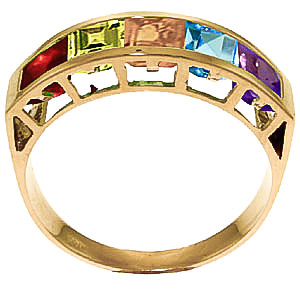 Square Cut Gemstone Ring 2.25ctw in 9ct Gold