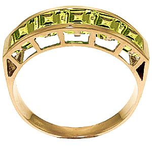Square Cut Peridot Ring 2.25ctw in 9ct Gold