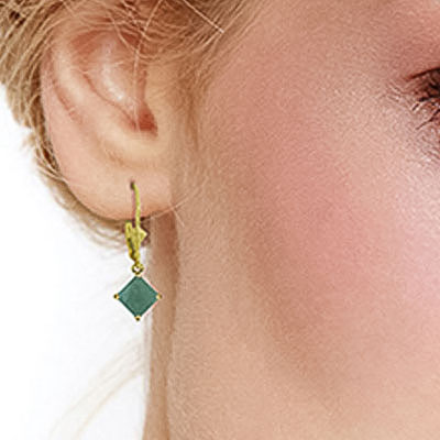 Emerald Alexandra Drop Earrings 2.9ctw in 9ct Gold
