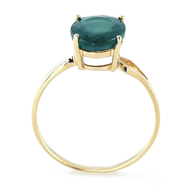 Emerald Claw Set Ring 2.14K in 14K Gold