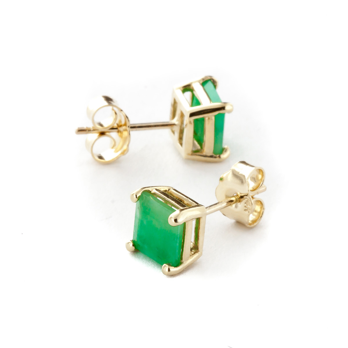 Emerald Stud Earrings 2.9ctw in 9ct Gold