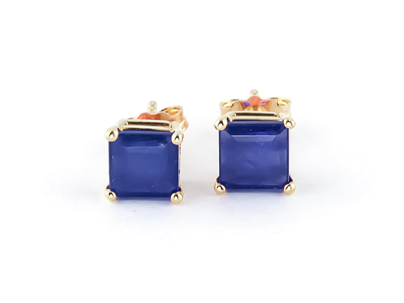Sapphire Stud Earrings 2.9ctw in 9ct Gold