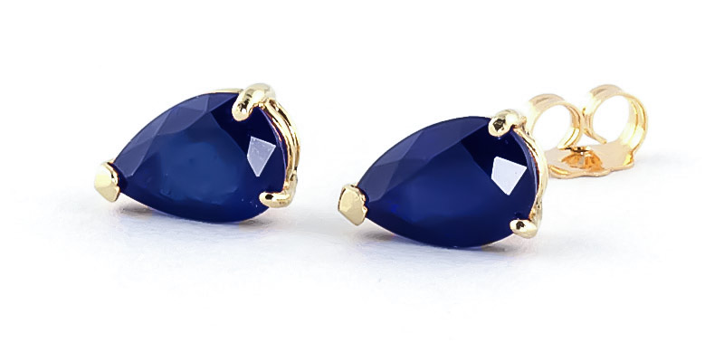 Sapphire Stud Earrings 3.0ctw in 9ct Gold