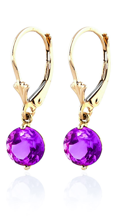 Pink Topaz Drop Earrings 3.1ctw in 9ct Gold