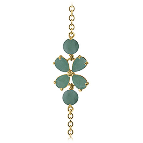 Pear Cut Emerald Adjustable Bracelet 3.15ctw in 9ct Gold