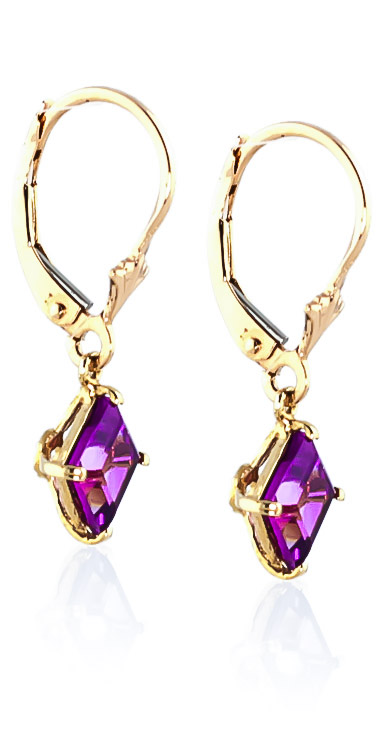Pink Topaz Drop Earrings 3.2ctw in 9ct Gold
