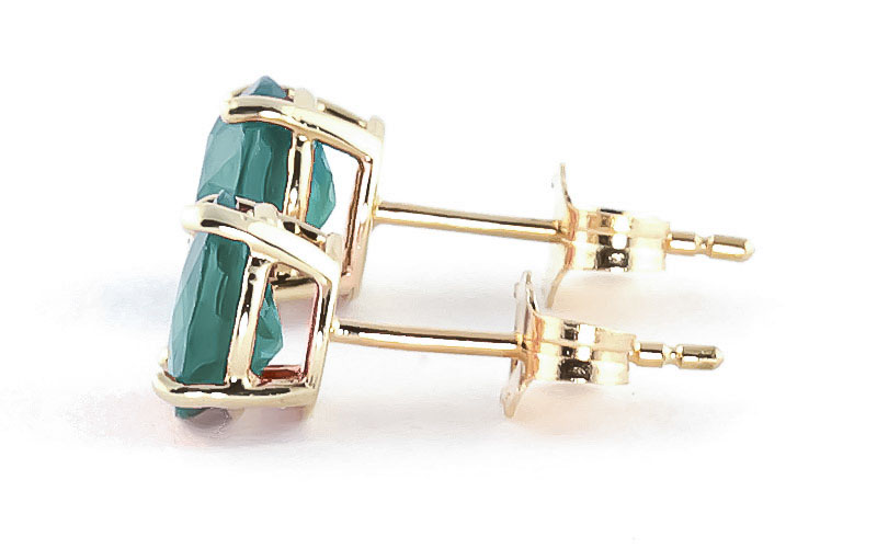 Emerald Stud Earrings 3.3ctw in 9ct Gold