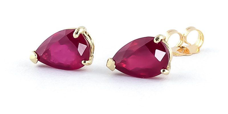 Ruby Stud Earrings 3.5ctw in 9ct Gold