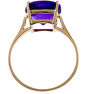 Amethyst Rococo Ring 3.6ct in 14K Gold