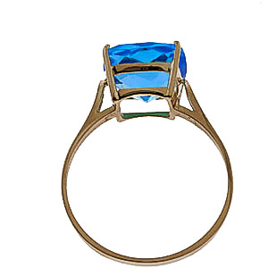 Blue Topaz Rococo Ring 3.6ct in 9ct Gold