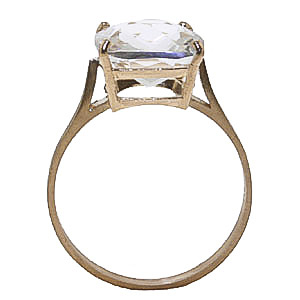 White Topaz Rococo Ring 3.6ct in 9ct Gold
