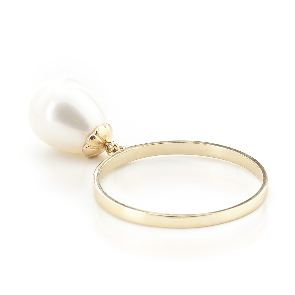 Pear Cut Pearl Ring 4.0ct in 14K Gold