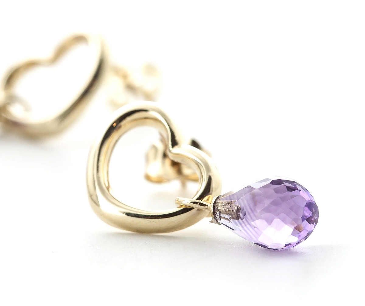 Amethyst Stud Earrings 4.5ctw in 9ct Gold