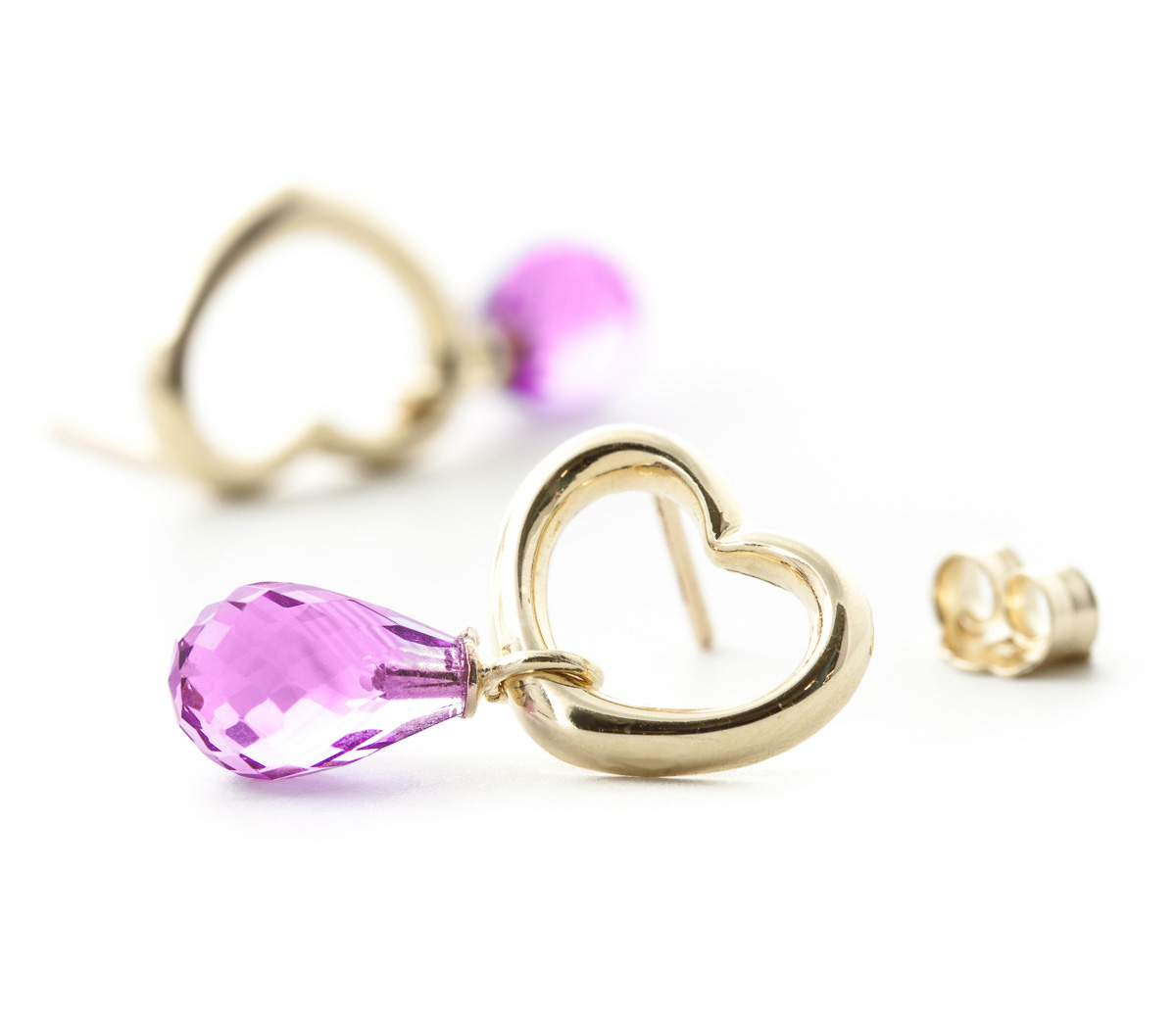 Pink Topaz Stud Earrings 4.5ctw in 9ct Gold