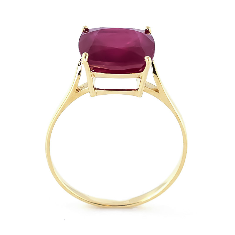 Cushion Cut Ruby Ring 4.7ct in 9ct Gold