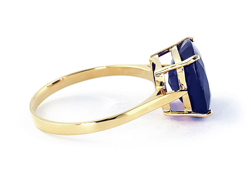 Sapphire Rococo Ring 4.83ct in 9ct Gold