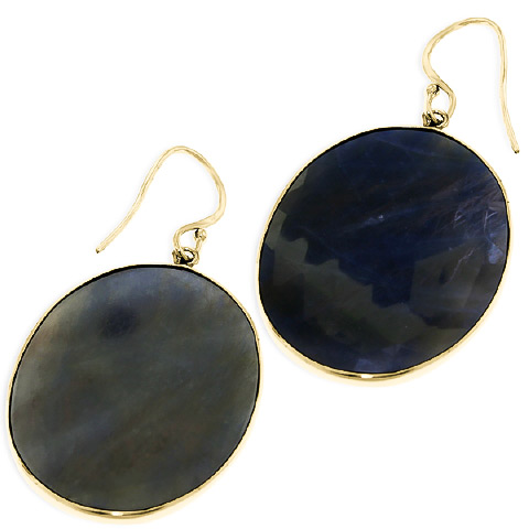 Sapphire Drop Earrings 40.0ctw in 14K Gold