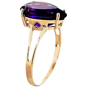Pear Cut Amethyst Ring 5.0ct in 14K Gold