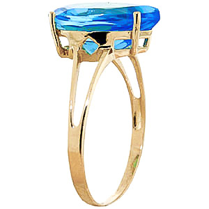 Pear Cut Blue Topaz Ring 5.0ct in 9ct Gold