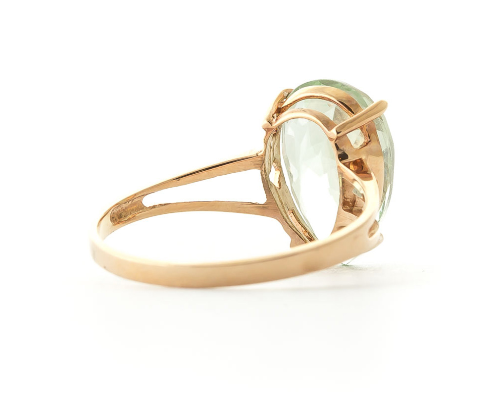 Pear Cut Green Amethyst Ring 5.0ct in 9ct Gold