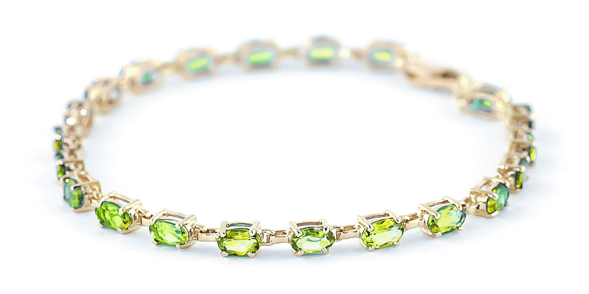 Peridot Infinite Tennis Bracelet 5.5ctw in 9ct Gold