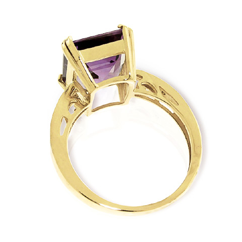 Amethyst and Diamond Ring 5.6ct in 14K Gold