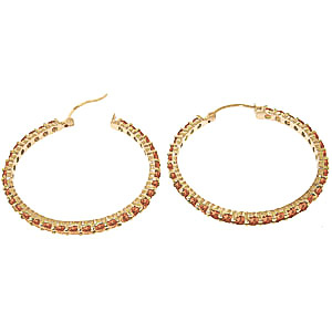Citrine Metro Hoop Earrings 6.0ctw in 9ct Gold