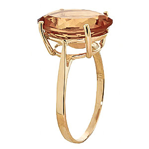 Oval Cut Citrine Ring 6.0ct in 9ct Gold
