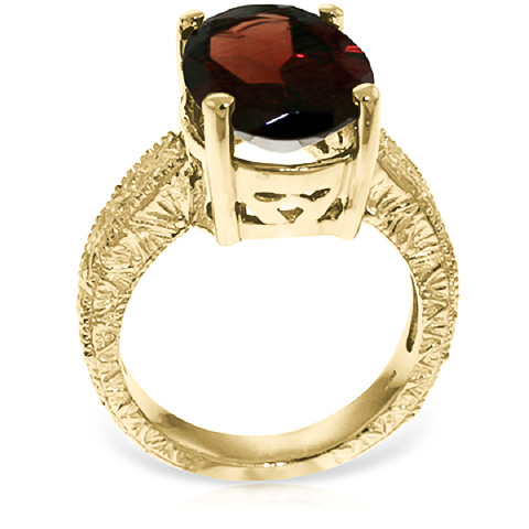Oval Cut Garnet Ring 6.0ctw in 14K Gold