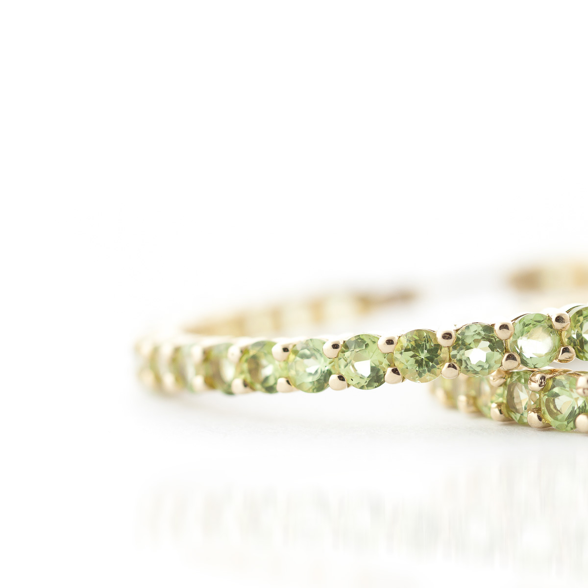 Peridot Metro Hoop Earrings 6.0ctw in 14K Gold