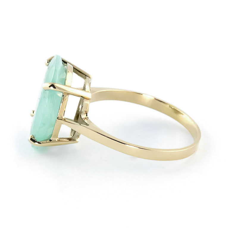 Oval Cut Emerald Ring 6.5ct in 14K Gold
