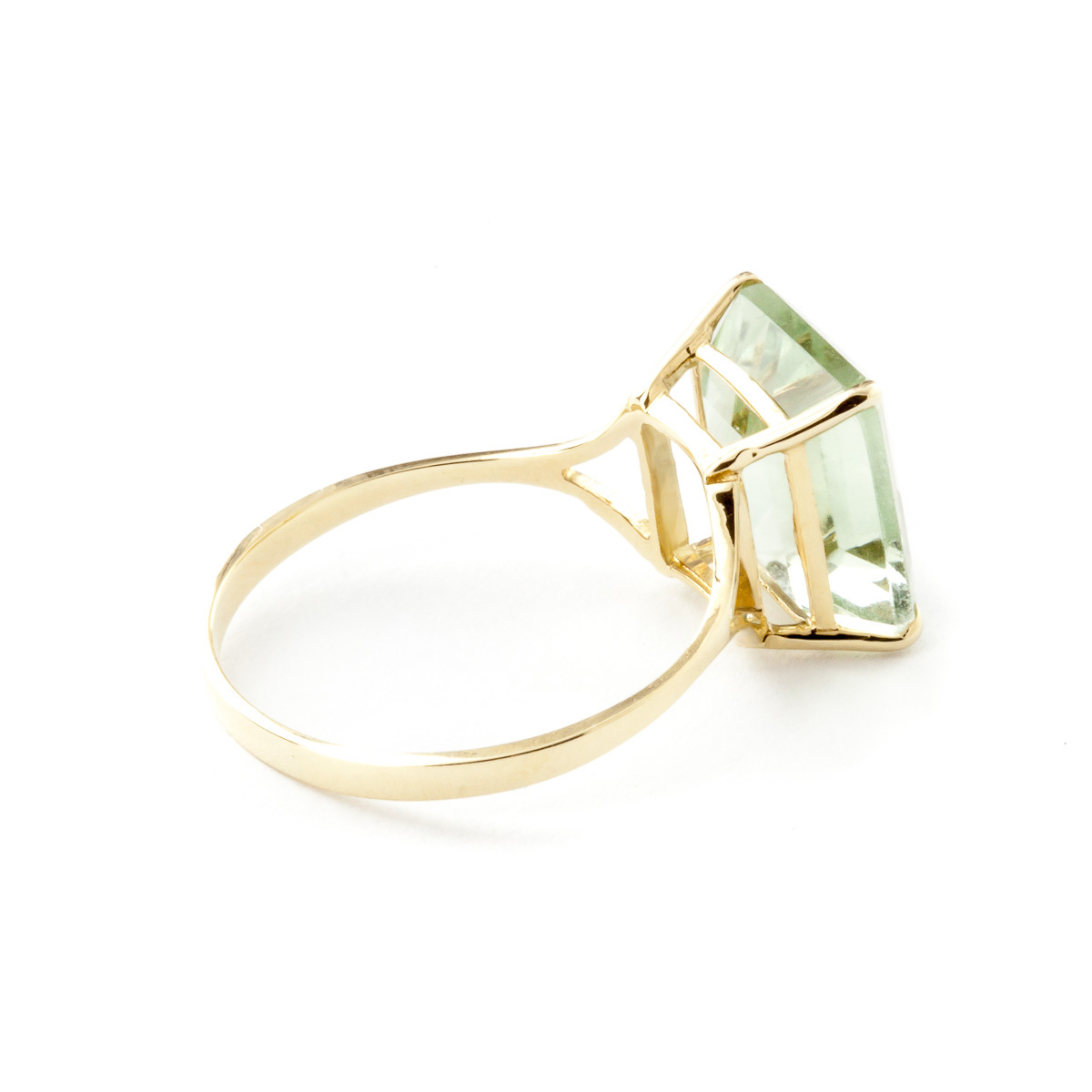 Green Amethyst Ring 6.5ct in 9ct Gold